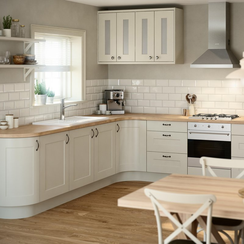 B&Q, Stonefield Stone Classic Style - starting at Stonefield Stone Classic Style - starting at £1269 for an 8 unit Galley kitchen , https://www.diy.com/