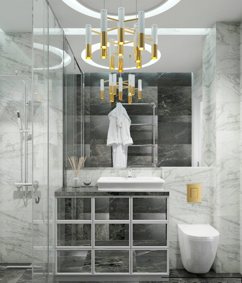 DelightFULL, Bathroom_Beautiful Black and White Marble a Art Deco Suspension Lamp, https://www.delightfull.eu/en