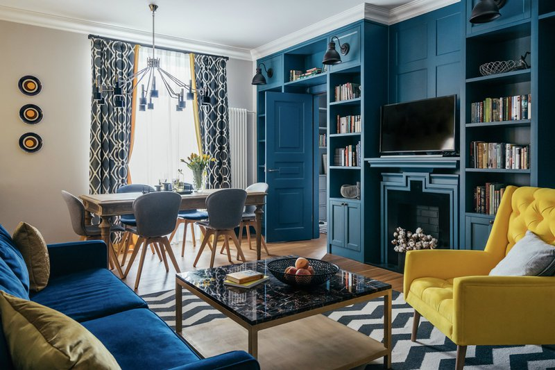 DelightFULL, Blue and Yellow Project with Midcentury Lamps, 1940087.jpg