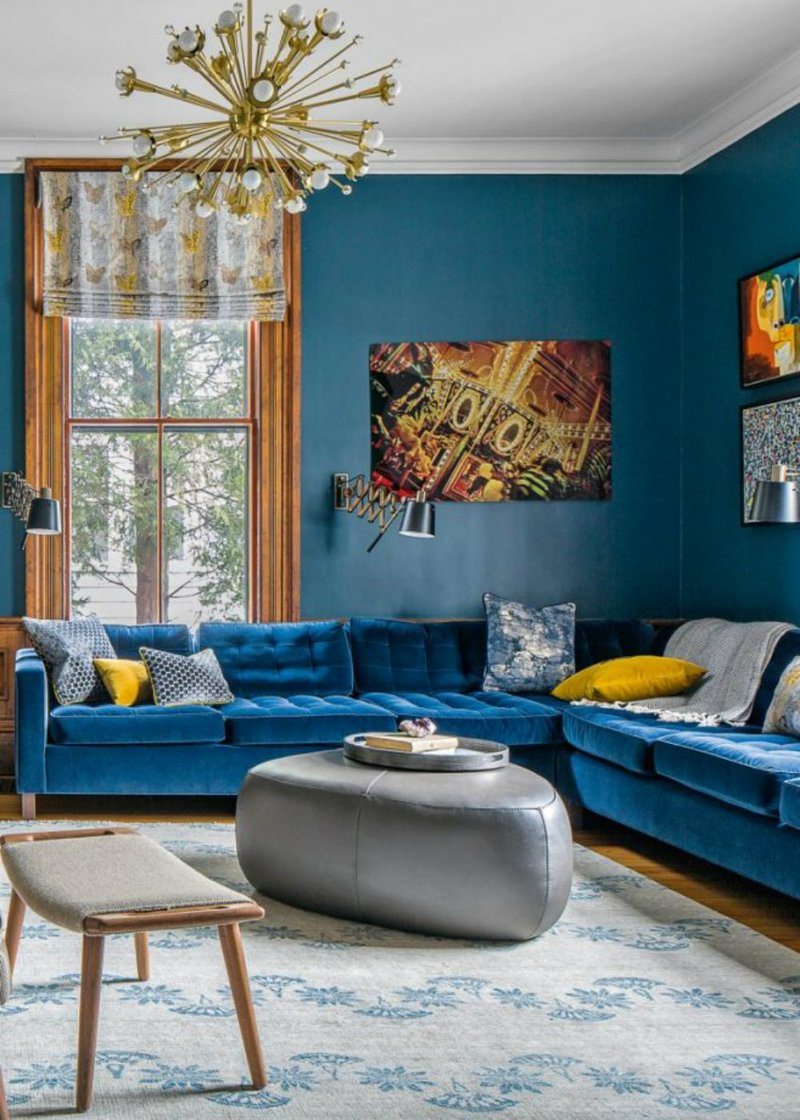 DelightFULL, Living Room MidCentury Blue Modern Design with Yellow and Gold, 2017063.jpg