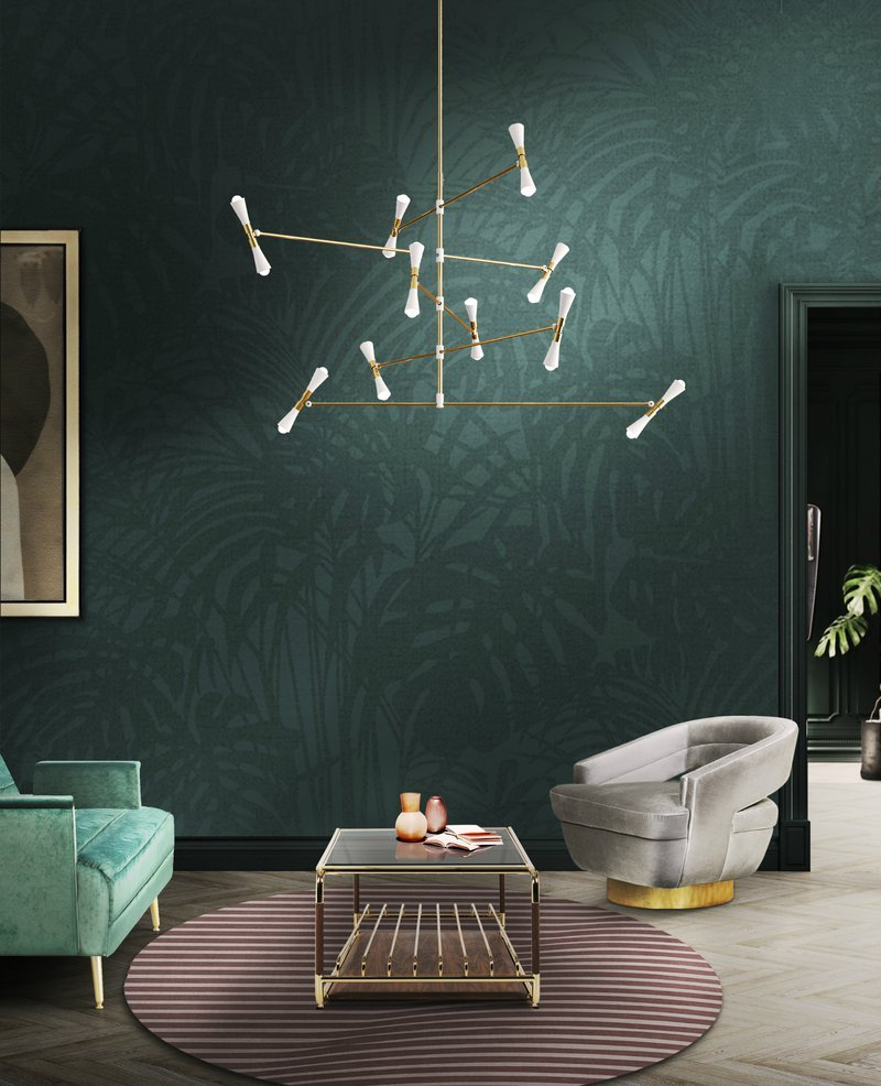 DelightFULL, Living Room  Mid Century Style With White Suspension Lamp, 1818178.jpg