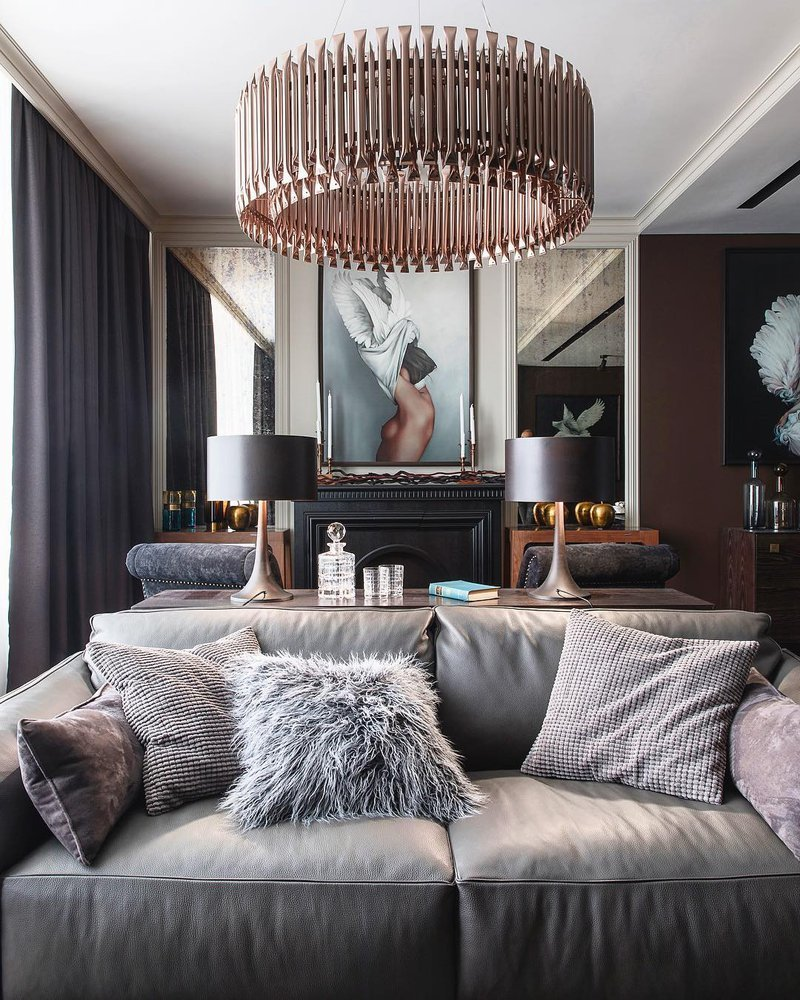 DelightFULL, Living Room  Suspension Lamp With Gold Details  Coral details , 3417864.jpg
