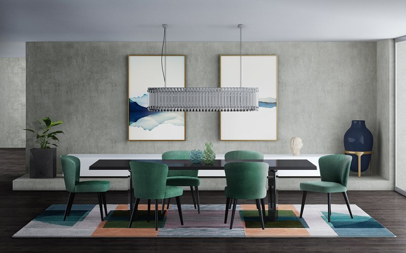 DelightFULL, Modern Dining RoomGreen and Silver Inspiration, 1790360.jpg