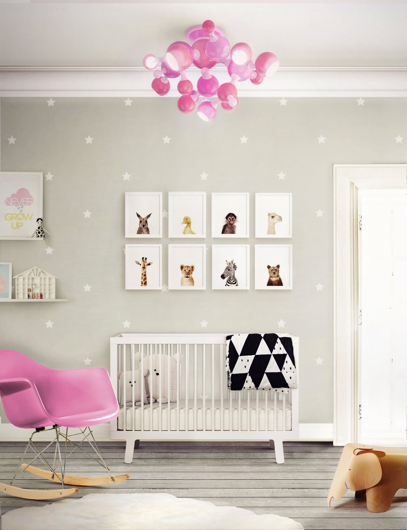 DelightFULL, PinkBaby Girl Room Trendy Pink with Fun Lamp, 2004978.jpg