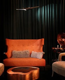 DelightFULL,  MidCentury Living RoomModern  Bold Winter Colors orange and green , 1803095.jpg