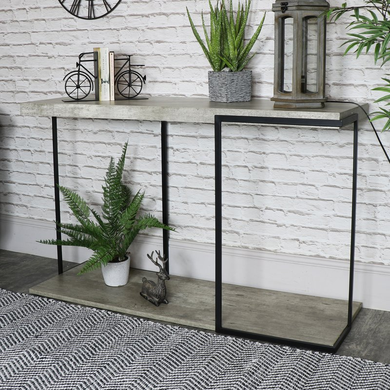 Melody Maison, Large Industrial Concrete Style Console Table, 4140826.jpg