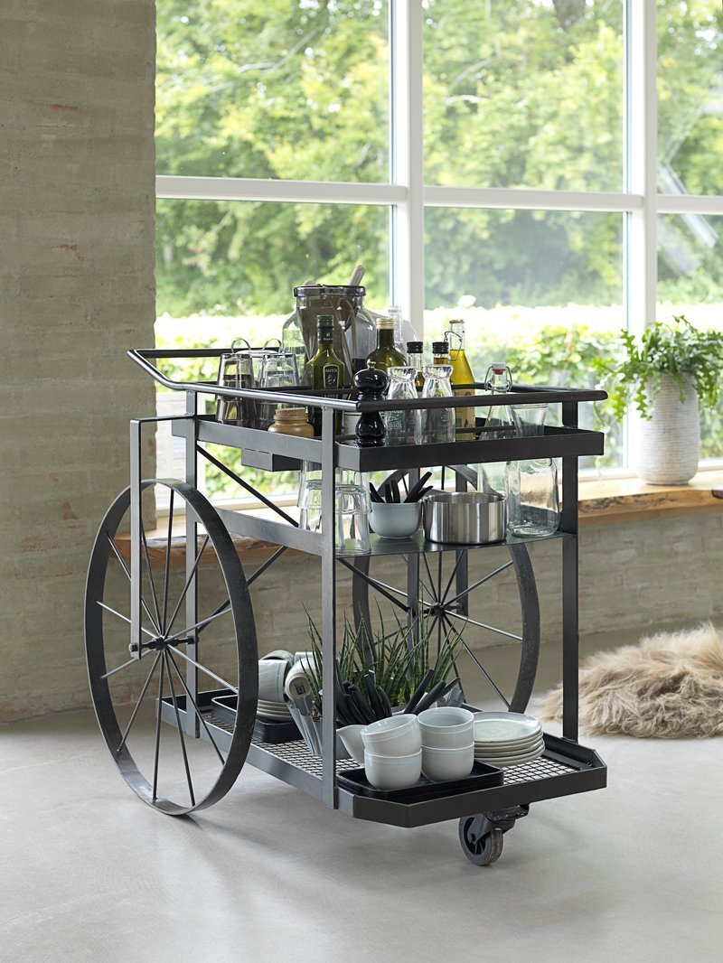 Smithers of Stamford, Luxury Wheel Kitchen Trolley Home Bar Furniture Drinks Storage, 1865270.jpg